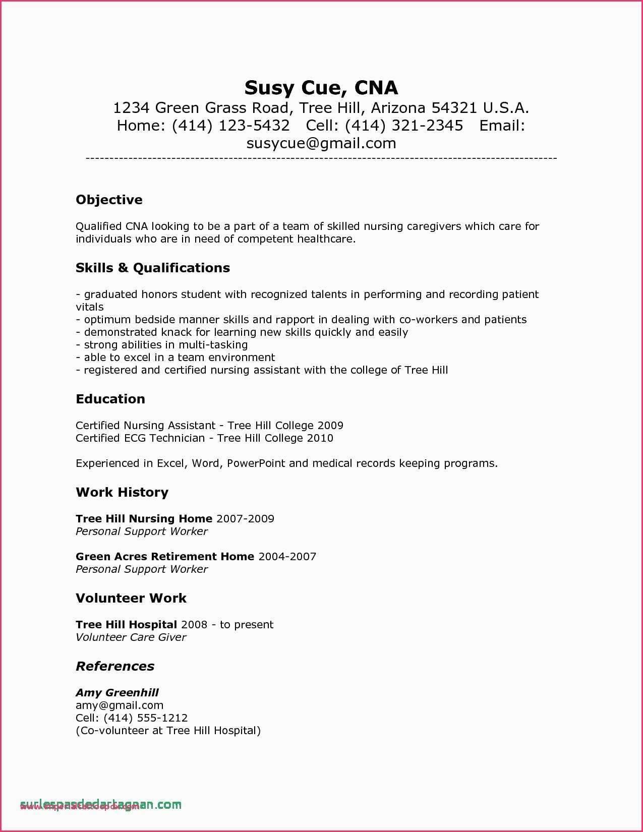 Sample Copy Of Bill Of Sale Resume No Experience Cover Letter For Resume Nursing Assistant