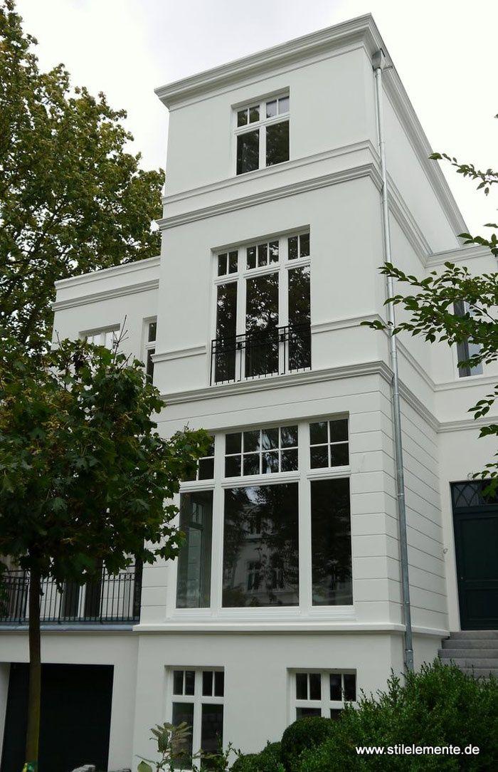 Neubau in Hamburg im klassizistischen Baustil. Haus