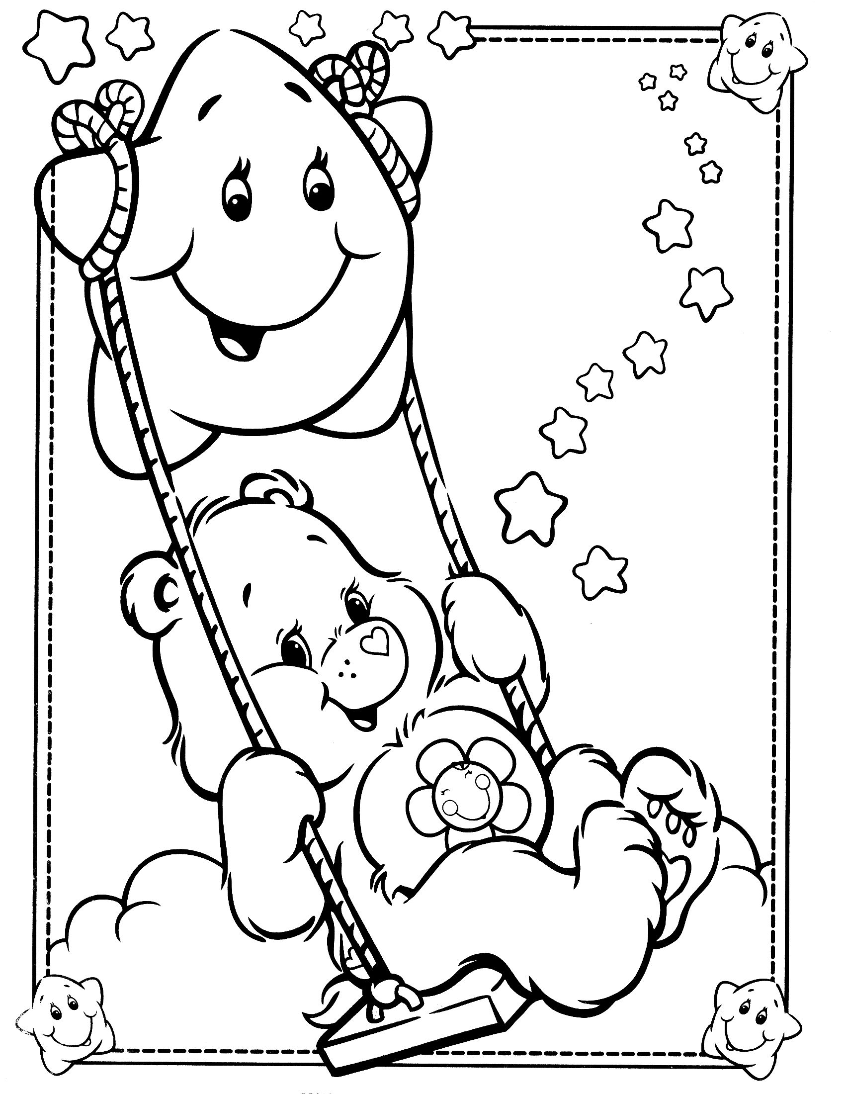 care bears coloring page - Bears Coloring Pages 2