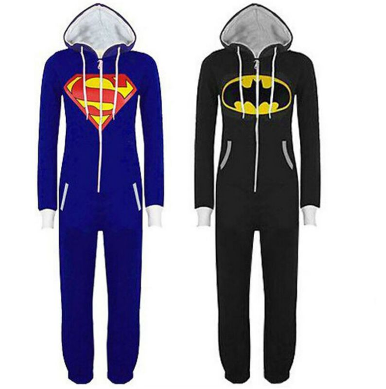 Unisex Adulto Onesie Kigurumi Pijama Batman Superman Traje Cosplay