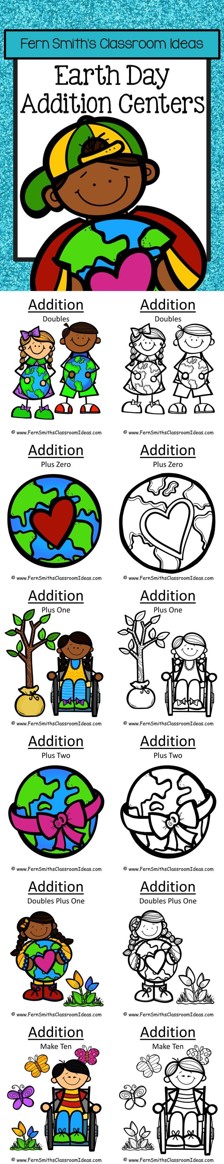 Earth Day Math Six Quick and Easy to Prep Addition Center