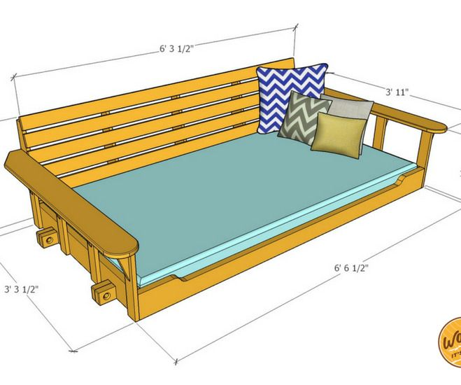 Porch Bed Swing Relaxing Times Ahead With Images Porch Swing