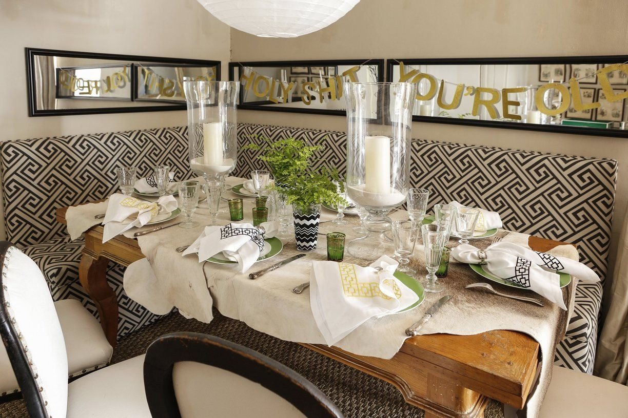 A Fearless & Fabulous New Orleans Home | Bald hairstyles, Banquette on