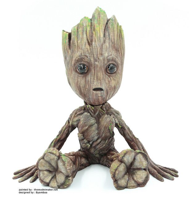 3d printed Baby Groot from Guardians of the Galaxy 2 ...