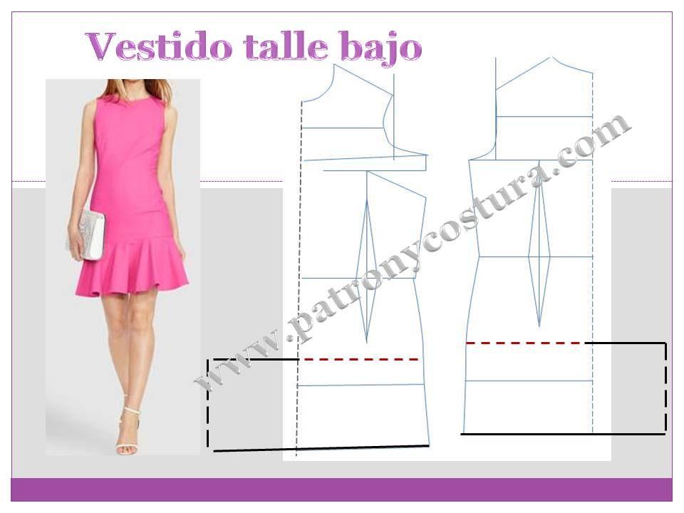 vestido talle bajo | PATRONAJE Y COSTURA IV | Pinterest | Vestidos ...