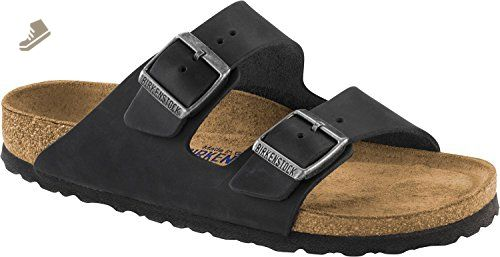 discount shop cheaper quality design Birkenstock Arizona Soft-Footbed Nubuck Leather Sandales Black ...