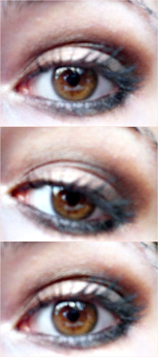 Simple smokey brown for hazel eyes.