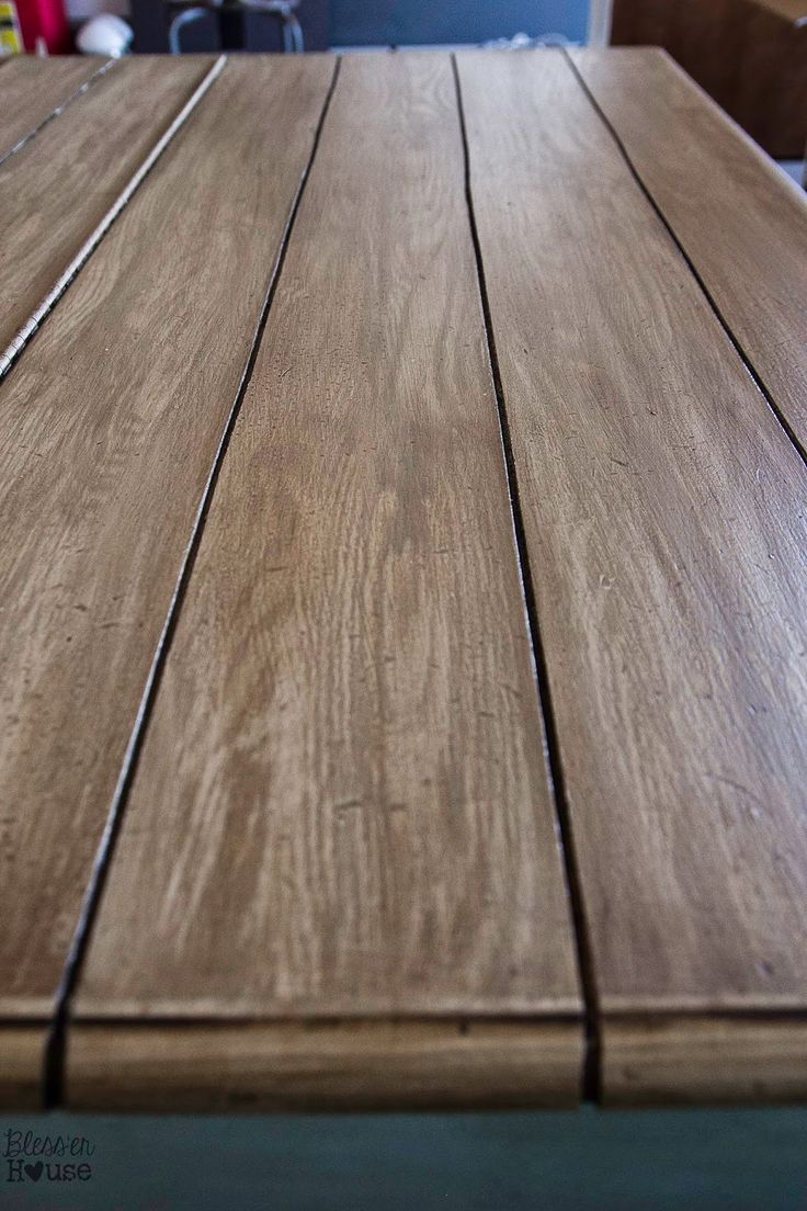 How To Create A Faux Reclaimed Wood Table Top | Painting Ideas For  Furniture | Pinterest | Wood Table, Woods And Faux Fireplace