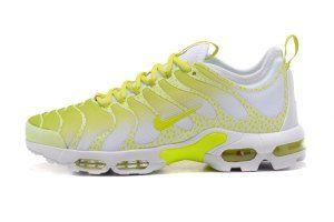 size 40 24ed1 b8053 Mens Nike Air Max Plus TN Ultra White Lemon Yellow 881560 430 Running Shoes