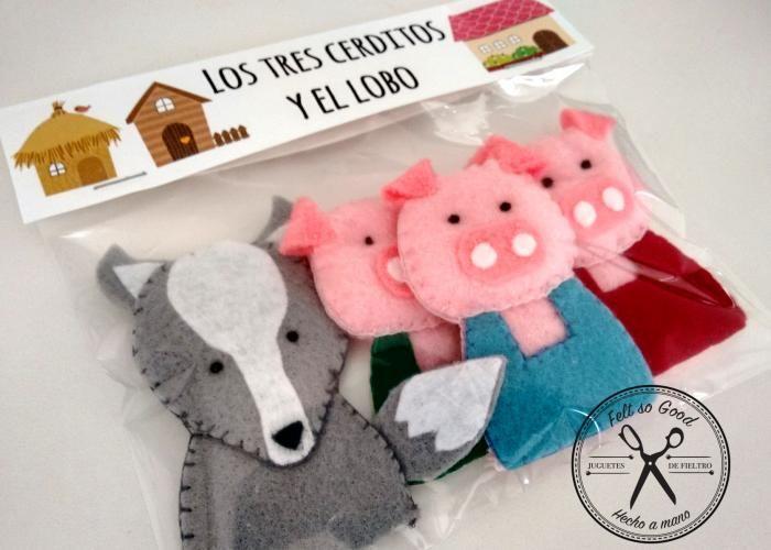 Felt So Good: Los 3 cerditos y el lobo - 3 little piglets | cosas ...