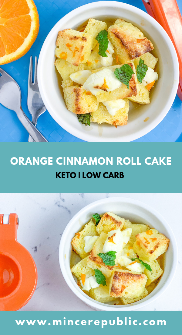 Orange Cinnamon Roll Cake