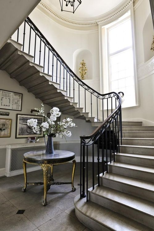 Foyer Staircase Decorating : Classical addiction entry foyer and stairs french