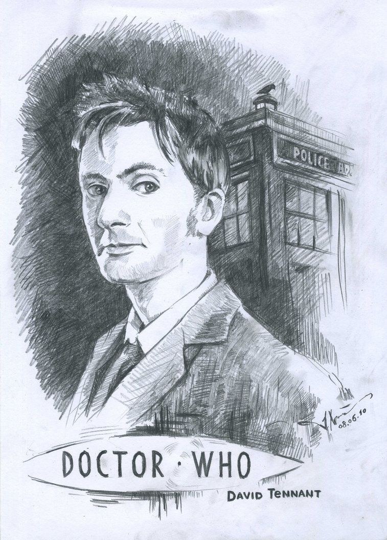 Doctor Who Coloring Pages David Tennant