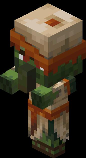 File Desert Baby Zombie Villager Png Baby Zombie Minecraft Theme Minecraft Crafts