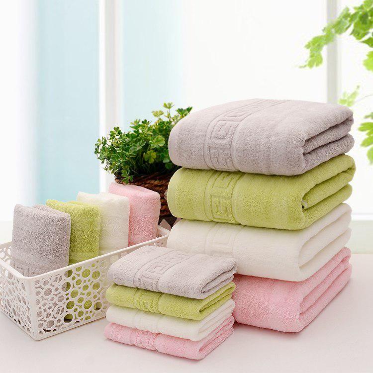 3pcs Set 4 Colors New Fashion Bath Towel Set 1 70cm 140cm 2 34cm 74cm 100 Cotton Bath Towel Piece Set Face Towel Wholesale With Images Bath Towel Sets Towel Set Towel