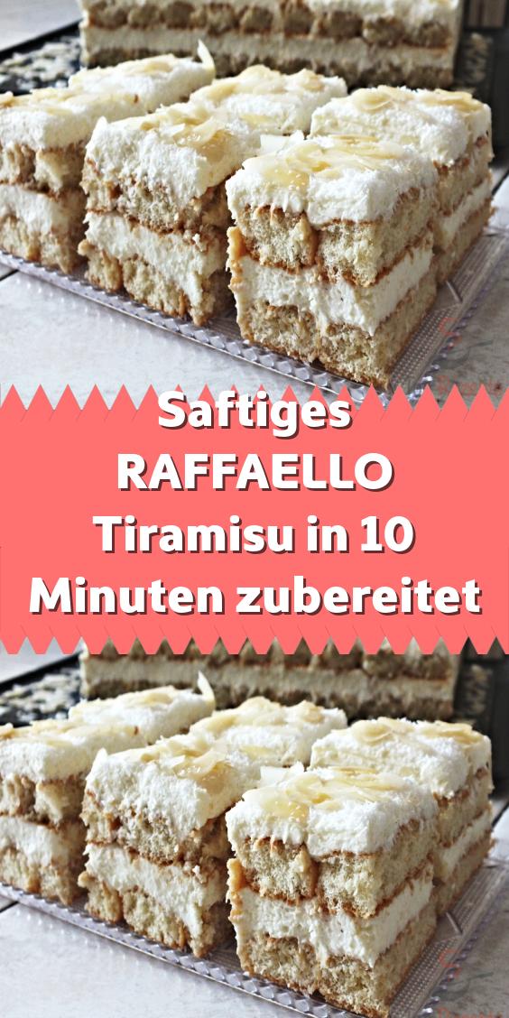 Saftiges RAFFAELLO Tiramisu in 10 Minuten zubereitet