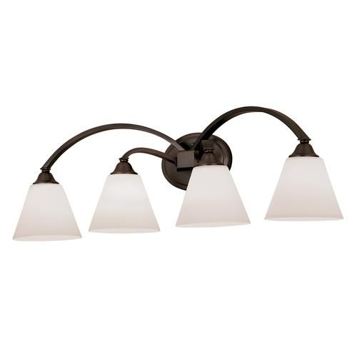 "Bathroom Lighting Menards plaza collection 4-light 32.5"" oil rubbed bronze bath fixture at"