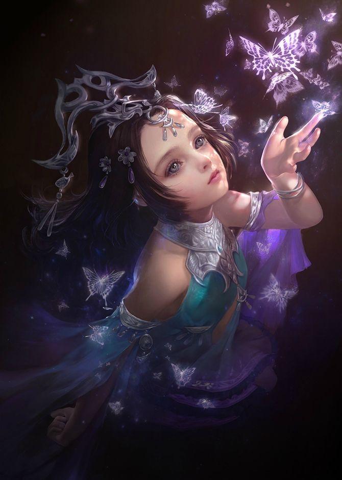 art fantasy Young girl