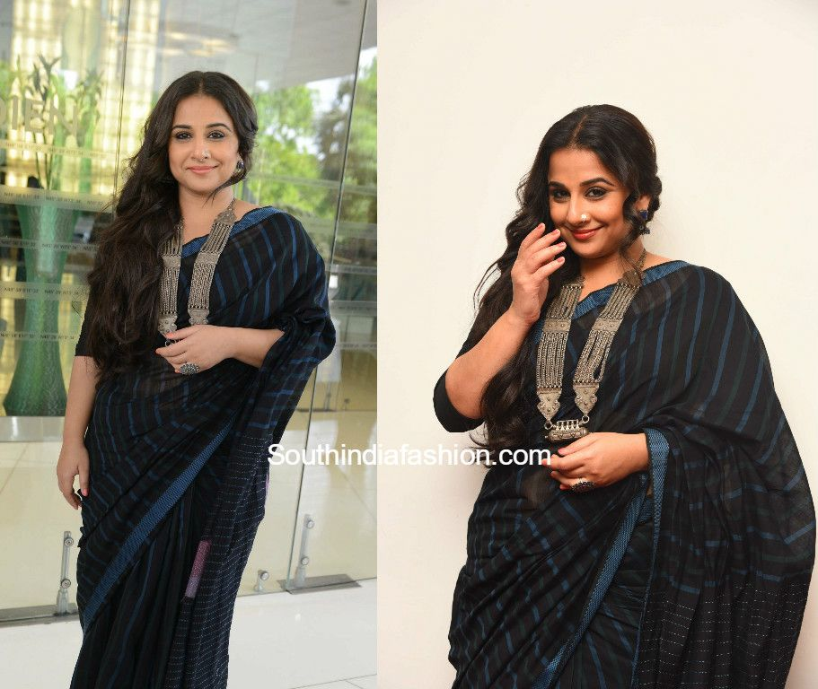 48612d5ae4002d Vidya Balan in a saree by Indigene for Begum Jaan promotions | Saree ...