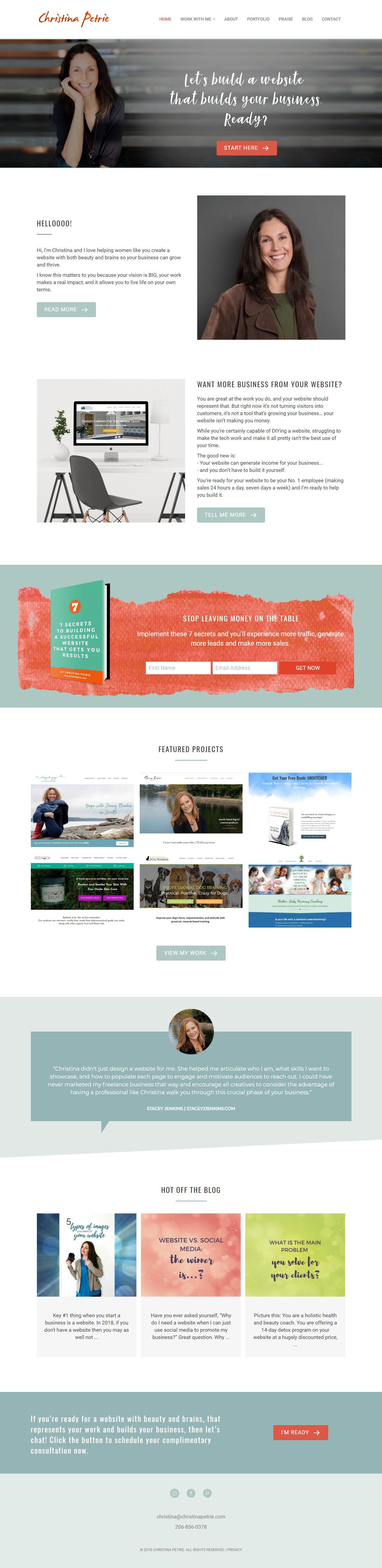 Website Designer Website Design Website Design By Christina Petrie Designs Website Design Design Development Business Launch