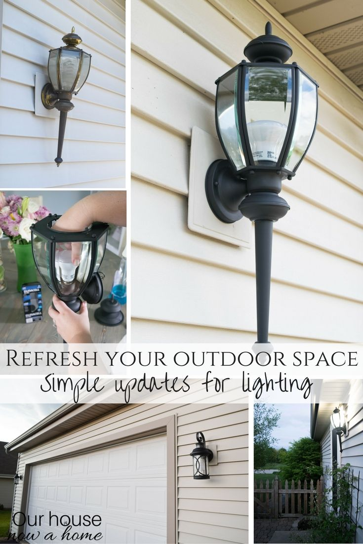 Refreshing The Outdoor Space Diy Lighting Redo Our House Now A