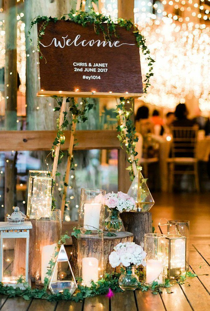 42 Rustic Wedding Ideas Reception Ideas And Tips Ideas Reception Rustic Wedding New Wedding Entrance Decor Wedding Entrance Wedding Candles