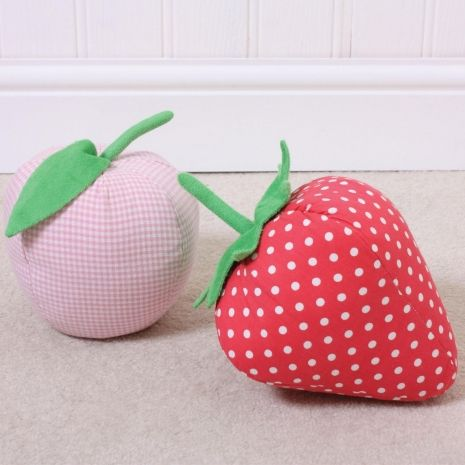 Red Dotty Strawberry Doorstop | Love In The Clouds From Love In The Clouds  UK.
