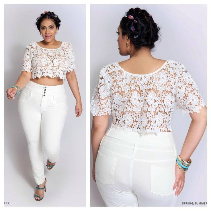 020b2c738836 15 Ways Plus Size Women Are Wearing Crop Tops [Gallery] | clothes ...