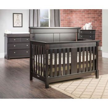 Springfield 3-piece Convertible Crib Set - Java, 2 piece option also ...
