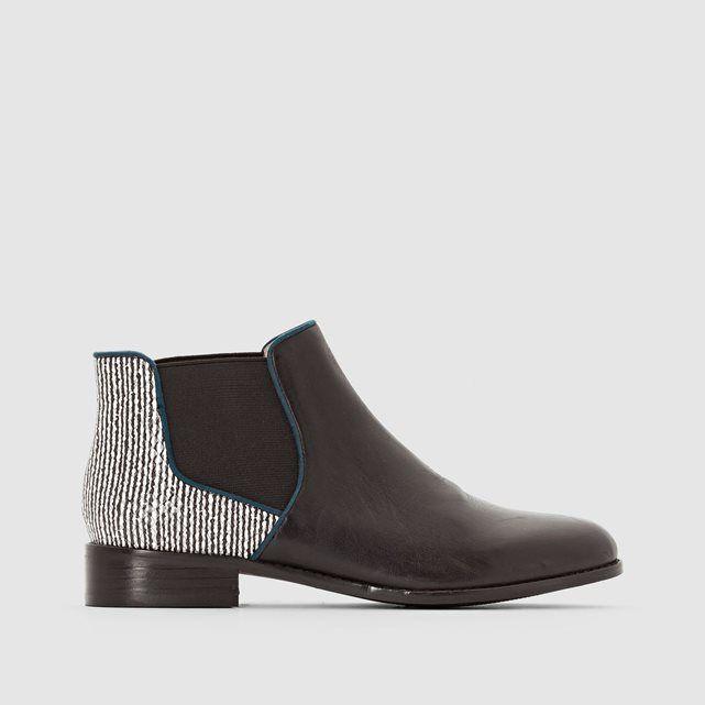 Boots en cuir Alizo Mellow Yellow : prix, avis & notation, livraison.  Dessus/ Tige : Cuir (vachette) et Synthétique façon python Doublure : Cuir (porc) Semelle extérieure : Synthétique Hauteur de talon : 3 cm Fermeture : A élastique