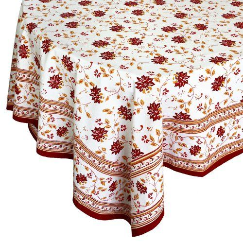 Tablecloths Rectangular Red Indian 100% Cotton Floral 274X172 Cm By  ShalinCraft, Http:/