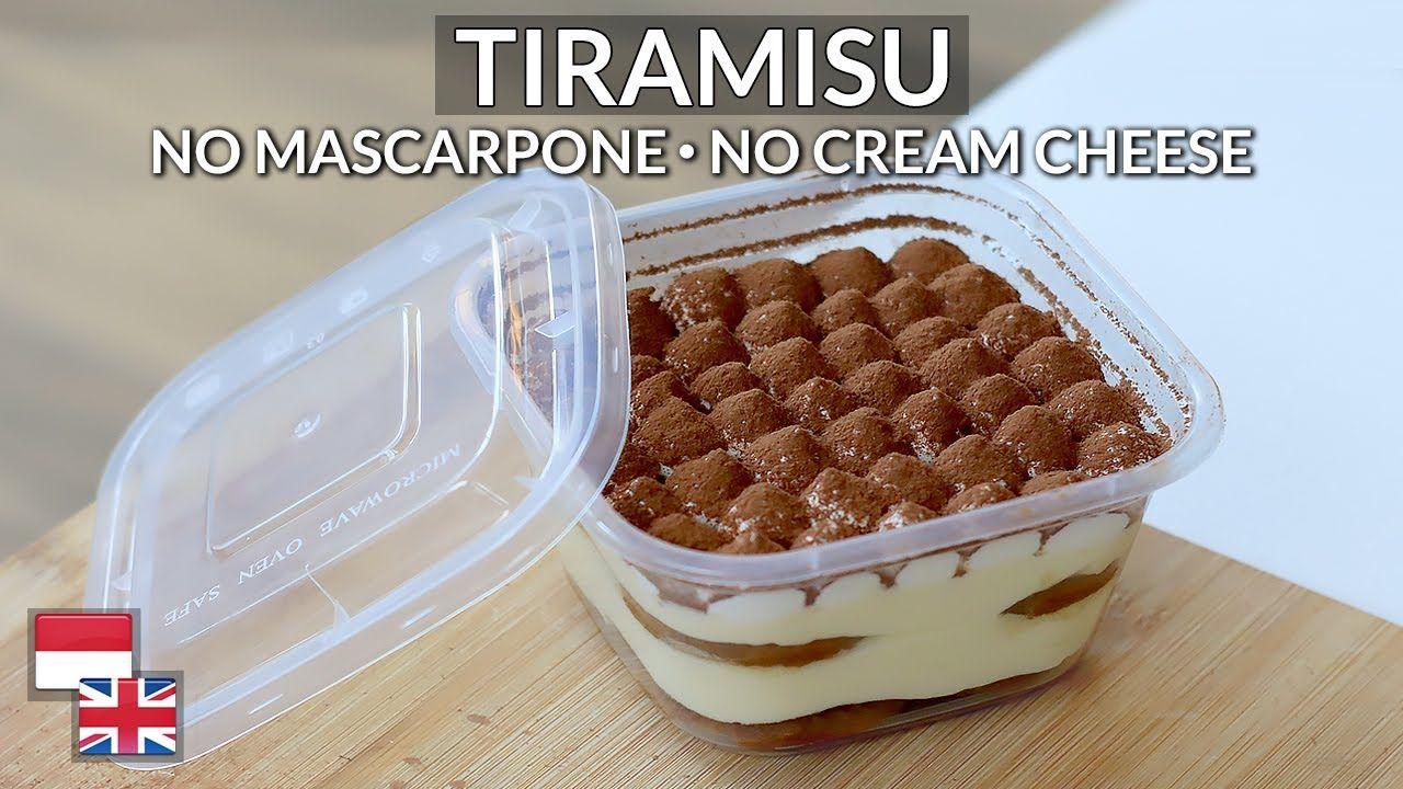 Istimewa Resep Tiramisu Kualitas Hotel Bahan Lokal Tanpa Mascarpone Cream Cheese Youtube Dessert Boxes Mascarpone Cream Cheese Mascarpone