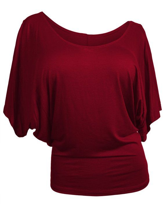 518265766317b2 eVogues Plus Size Dolman Sleeve Top at Amazon Women's Clothing store:  Blouses