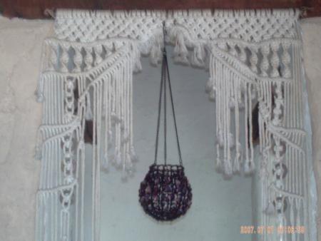 Cortina cortina de paso cordon de algodon,abalorios madera ...