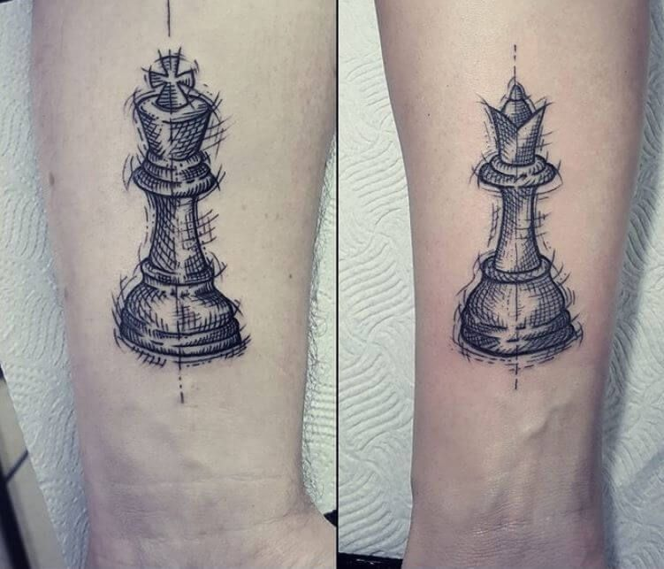 Kết Quả Hinh ảnh Cho Queen And King Chess Piece Tattoos Possible