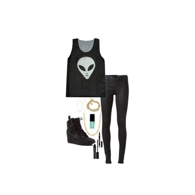 """#579"" by catdyedblack ❤ liked on Polyvore featuring Jin Soon, Michael Kors, Diesel, Opening Ceremony, NIKE, Fremada, Yves Saint Laurent and Smashbox"