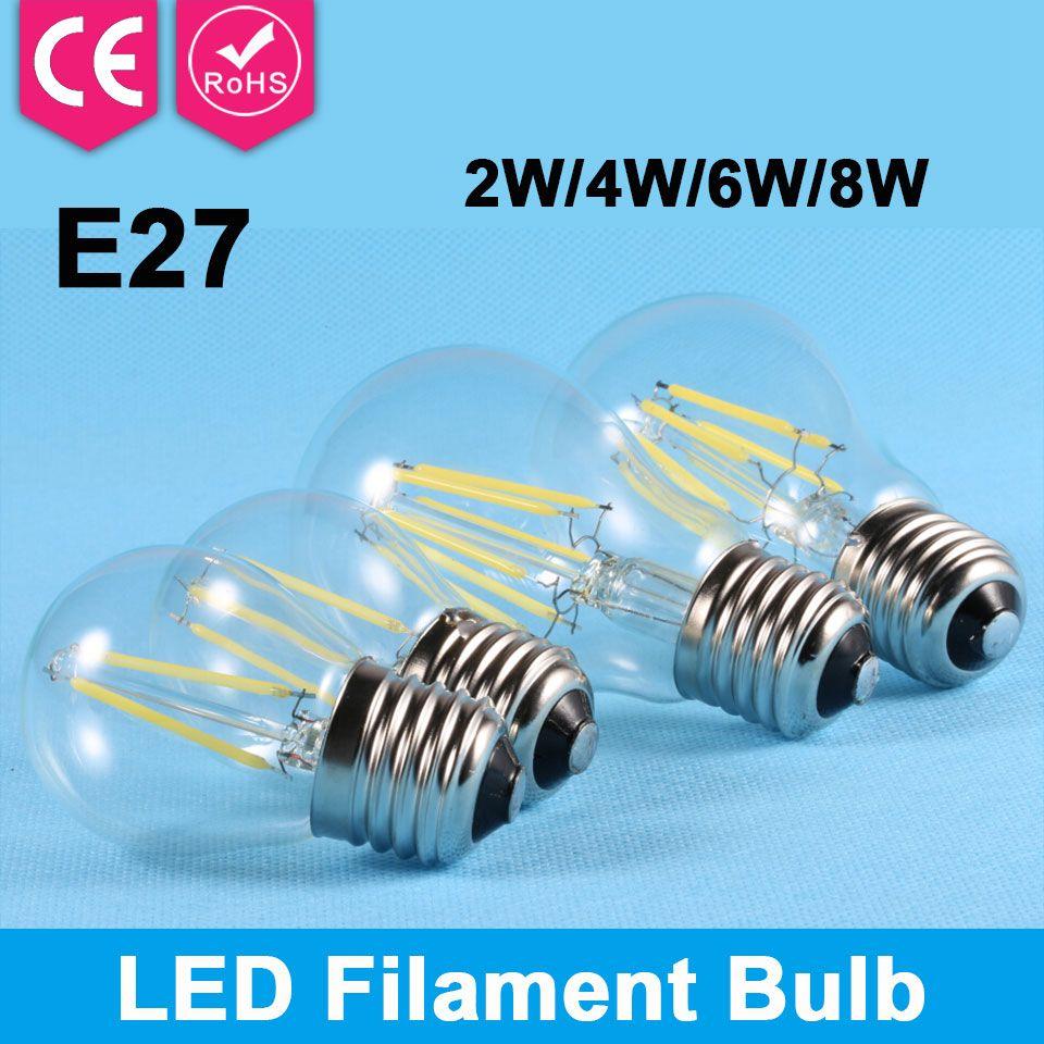 Aliexpress Com Buy 1pcs Glass Led Filament Bulb Lamp Home Lighting Ampoule Led Bubble Bulb E27 Energy Saving Light Bombilla Filament Bulb Lamp Led Bulb Bulb