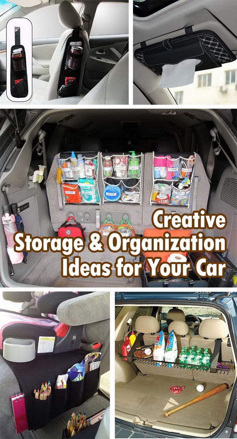 Creative storage and organization ideas for your car for Creative organization