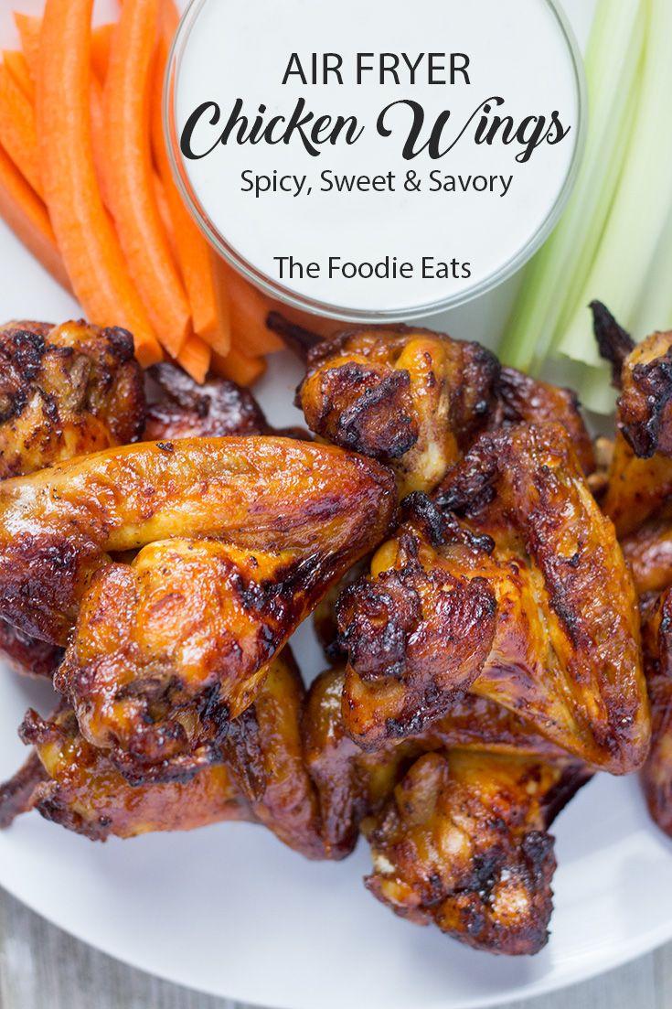 Air Fryer Chicken Wings Spicy, Sweet & Savory Recipe
