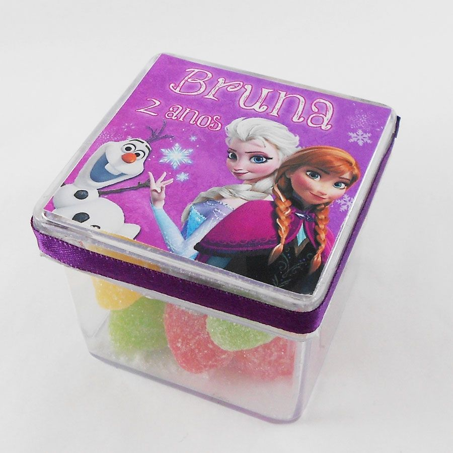 Caixa 5x5 Personalizada Frozen 10 unidades R$49,00