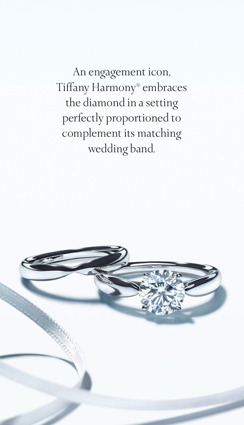 tiffany wedding bands A beautiful duet the Tiffany Harmony engagement ring and wedding band