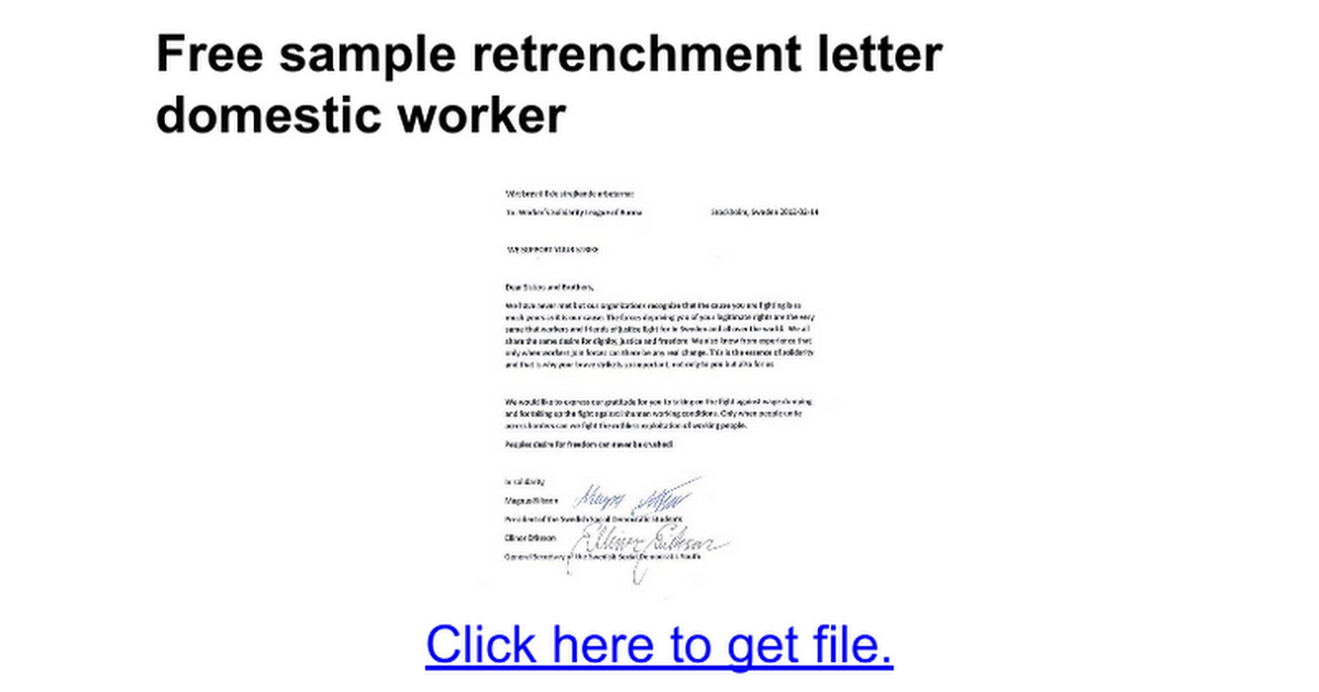 Pin On Retrenchment Letter