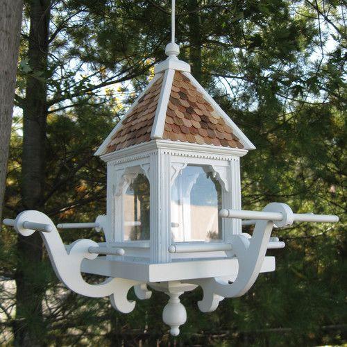 Home Bazaar Signature Series The Windamere Gazebo Bird Feeder Gazebo Bird Feeder Hanging Bird Feeders Bird Feeders