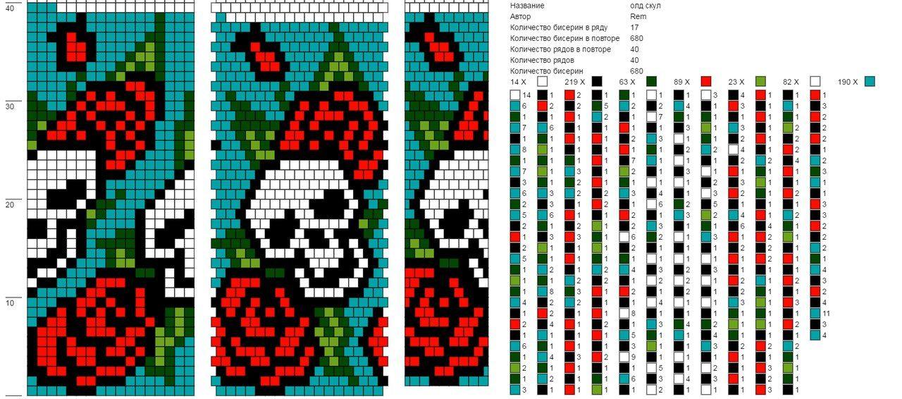Verdrahtungsschema von Perlen | VK | Crochet with beads patterns ...