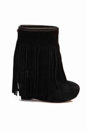 ef9a75ff99d Koolaburra Veleta Wedge Heel with Fringe Boot in Black WANT! | My ...
