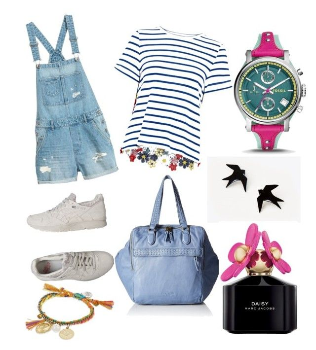 """""""happy holiday"""" by ariz-rahma on Polyvore featuring Sea, New York, Asics, Liebeskind, FOSSIL, Venessa Arizaga and Marc Jacobs"""