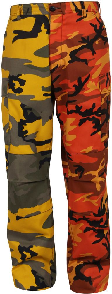 Orange   Yellow Camouflage Two Tone Fashion Icon BDU Cargo Pants Trousers   Rothco  CargoBDUPants b822f70b8fb