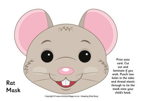 Mouse Mask Printable Rat mask printable | Con ñiños | Pinterest ...