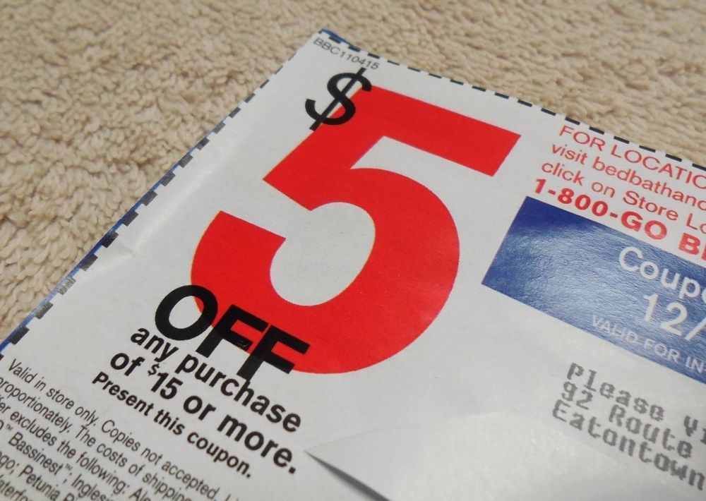 Bed Bath Beyond Coupon $5 Off $15 Or More Expires 12/28/2015 Deal Savings Offer!