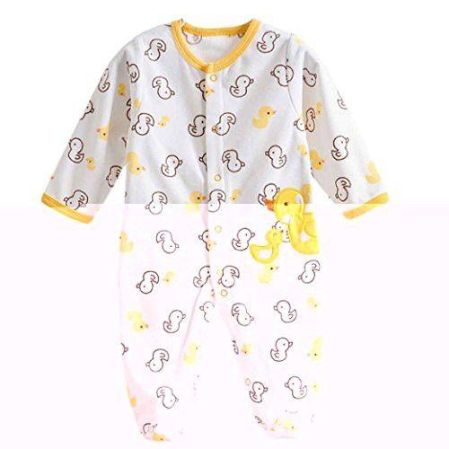 05ece6b96fe8 Baby Footie Romper Newborn Pajamas Sleep   Play Outfit Jumpsuit ...